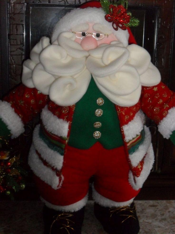 muñecos de navidad en paño lency 2016 | Como Hacer Papa Noel Parado | MEJOR…