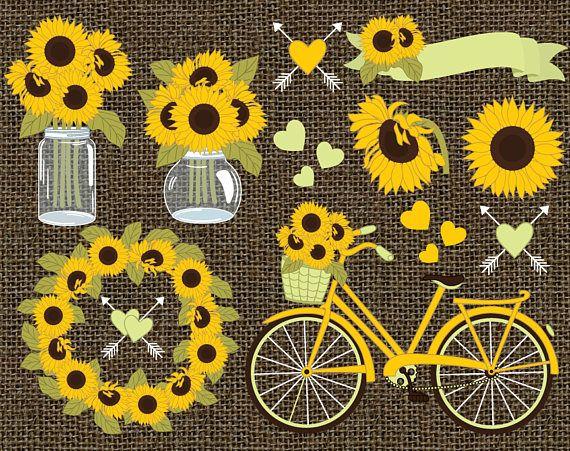 unique sunflower clipart ideas