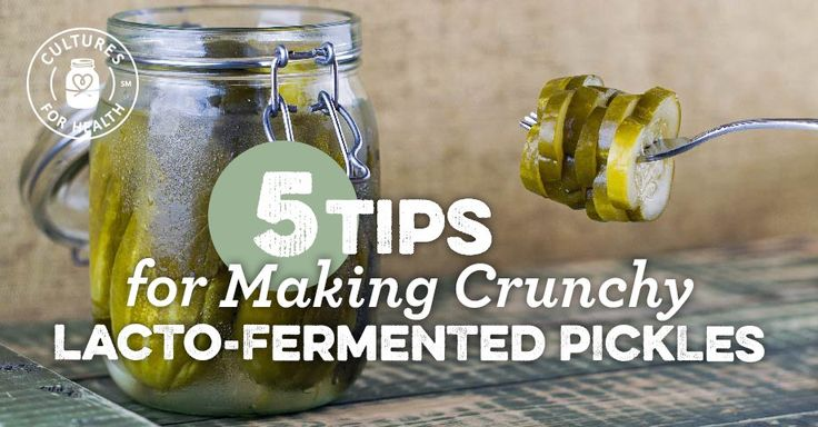 Have you been disappointed by mushy pickles? Check out our tips for insuring your lacto-fermented pickles come out firm and crunchy.