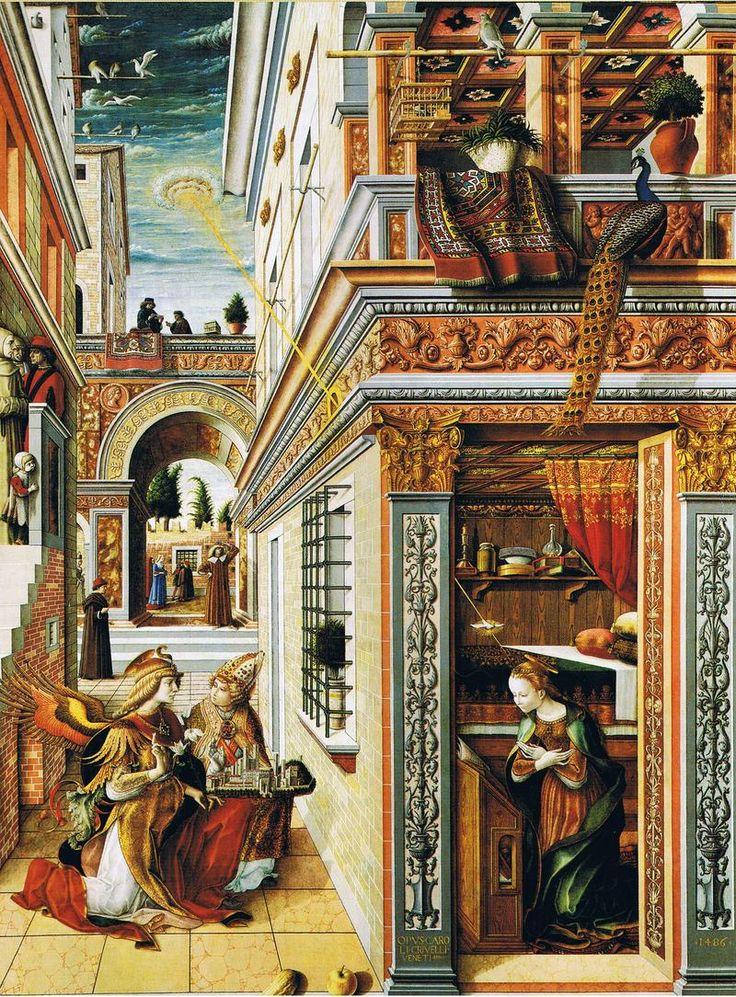 Carlo crivelli the annunciation with st emidius 1486