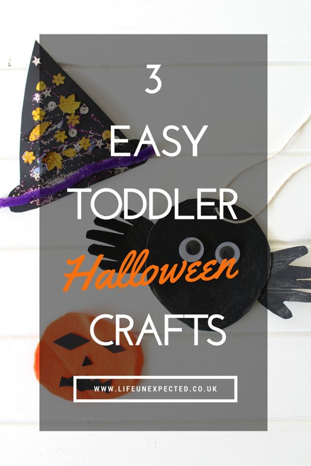 3 easy toddler Halloween crafts. Suitable for kids as young as 18 months with adult supervision.