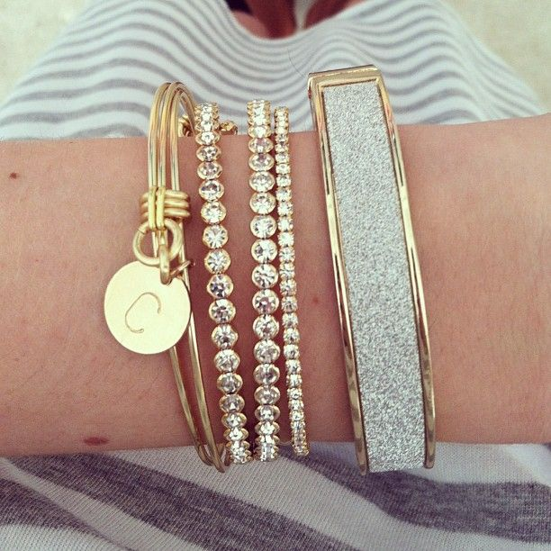 A simple gold and silver stack for today's casual outfit!