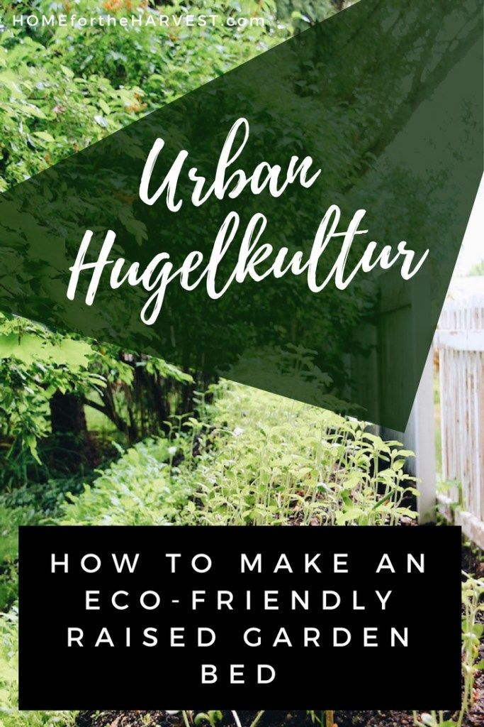 Urban Hugelkultur - How to Make an Eco-Friendly Raised Garden Bed | Home for the Harvest