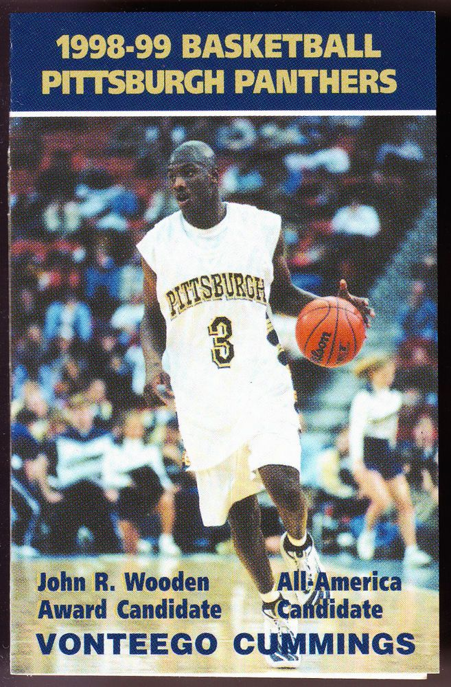 1998-99 PITTSBURGH PANTHERS COKE UPMC HEALTH MENS BASKETBALL POCKET SCHEDULE  #Schedule