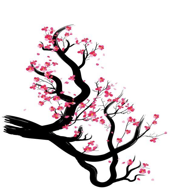 Fond De Cadre Aquarelle Sakura Avec Des Branches De Cerisier En Fleurs Sakura Fleur Dessine A La Main Png Et Vecteur Pour Telechargement Gratuit Dessin Arbre Fleur De Cerisier Dessin Peinture
