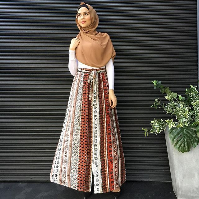 Bohemian Style Button Up Maxi Skirt