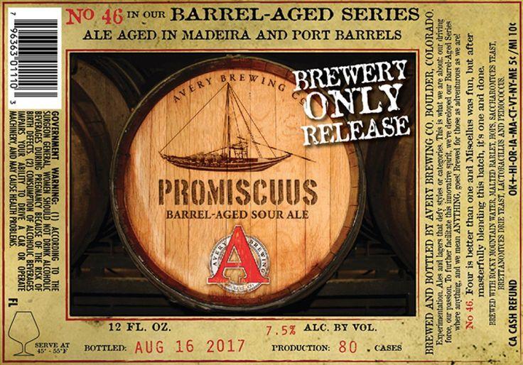 Avery - Promiscuus  http://www.beer-pedia.com/index.php/news/19-global/4917-avery-promiscuus  #beerpedia #averybrewing #sourale #barrelaged #madeira #port #beerblog #beernews #newrelease #newlabel #craftbeer #μπύρα #beer #bier #biere #birra #cerveza #pivo #alus