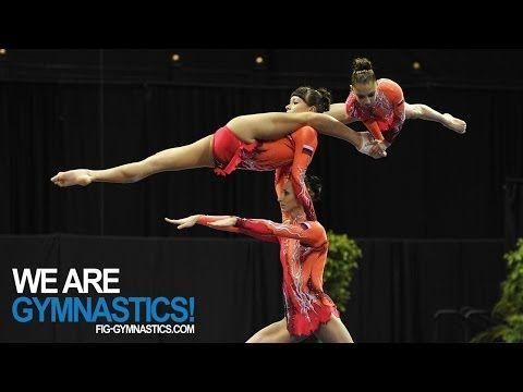 2012 Acrobatic Worlds - LAKE BUENA VISTA, USA - Women's Group Final - We are Gymnastics! - YouTube