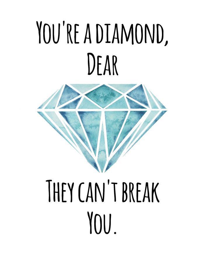 diamond dear giclee print typography pinterest blue