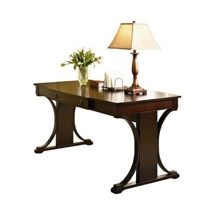 Found it at cymax.com - Coaster Crest Transitional Writing Desk in Cherry