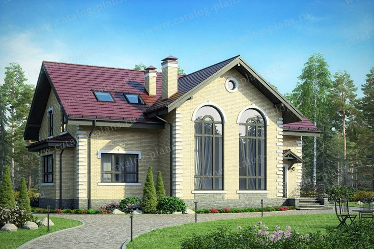 Проект жилой дом #40-44L материал - кирпич, стиль классический