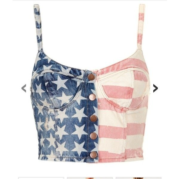 probably the cutest clothes ever made ❤ liked on Polyvore featuring tops, shirts, usa flag shirt, american flag top, blue shirt, blue top and american flag shirt