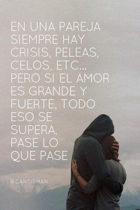 〽️ En una pareja siempre hay crisis, peleas, celos, etc. Pero si el amor es grande y fuerte, todo se supera.