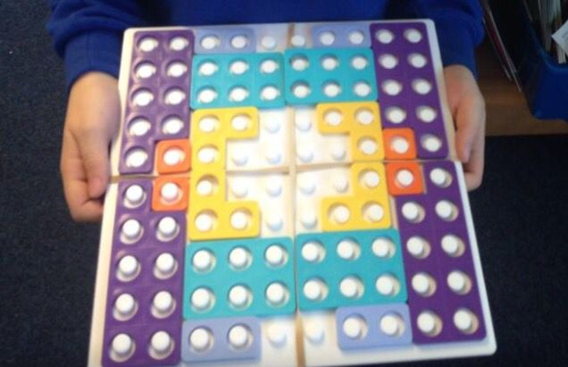 Reflective symmetry using Numicon