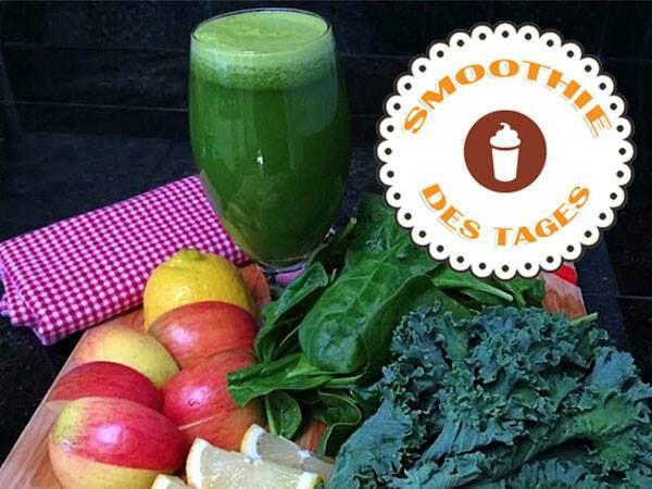 Mmmmh! Wir starten mit einem Grünen Smoothie von Star-Trainerin Jeanette Jenkins in den Tag! Mixt ihn euch nach, hier gibt's das Rezept: