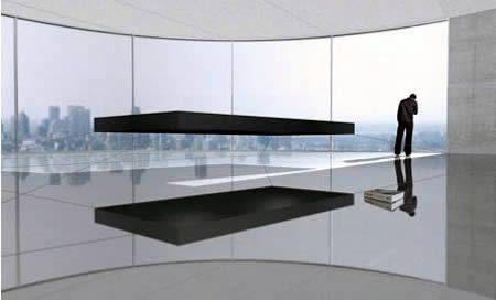 Magneting floating bed