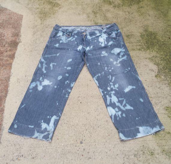 Boyfriend Jeans Womens Bleach Dye Baggy Jeans to fit UK size 20 or ...