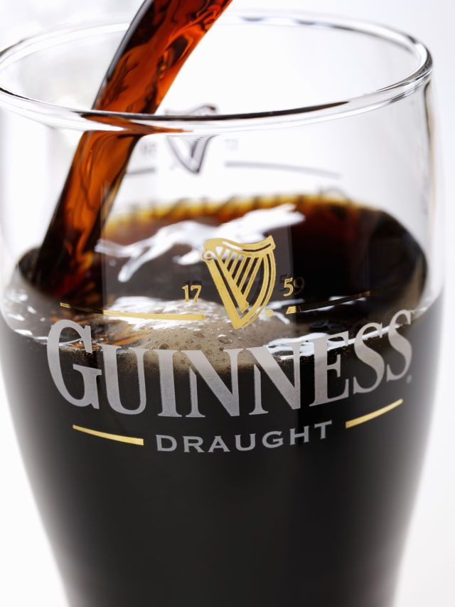 """Best Low-Calorie Beer for St. Patrick's Day-Low Carb Beer-Guinness Draught-Even hearty Guinness Draught is a slimmer pick than your standard wheat variety, with 126 calories and 10 grams of carbs. And think about it this way: """"Slashing 40 calories each time you fill your mug might not sound like a lot, but over time, these small changes help people achieve their weight-loss goals."""" Meaning you can have your beer and lose weight, too. Browse our selection of healthy beer at redbookmag.com."""