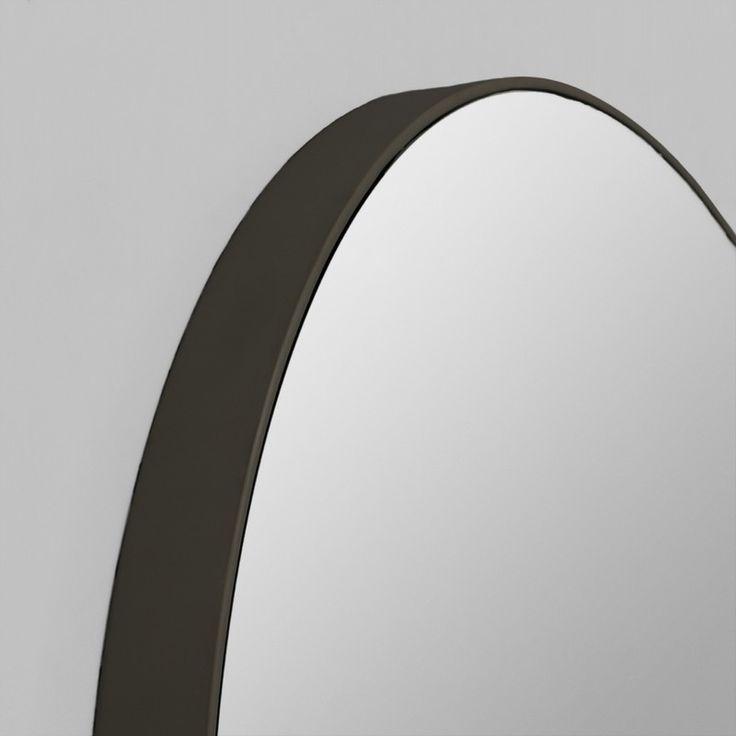 Modern Black Circular Round Mirror   Various Sizes