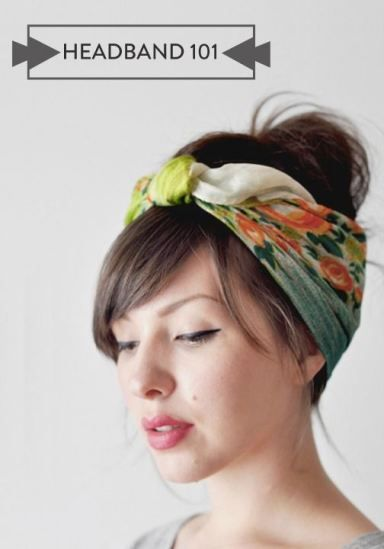 Headbands are a great accessory for fine and thin hair - they hide bare spots and are wonderful for adding bulk to updos.