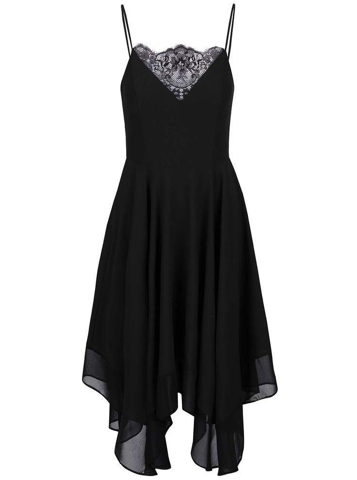 Černé delší šaty na ramínka Miss Selfridge