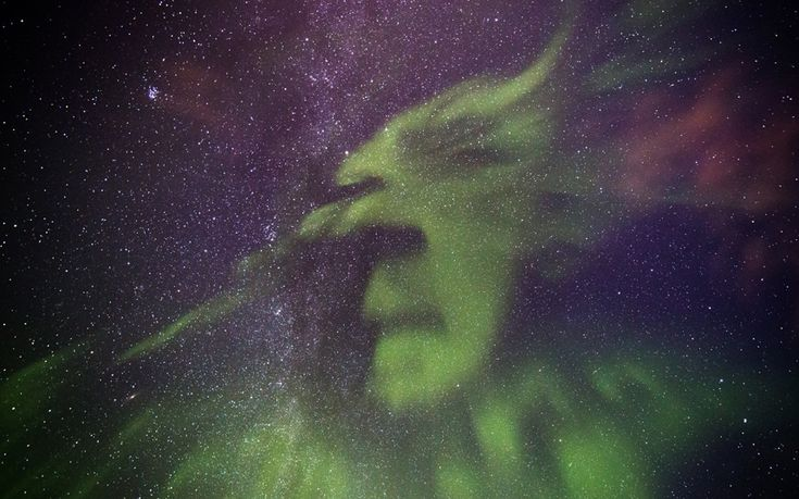 The Grinch has been spotted in the Northern lights by Scottish photographer Graeme Whipps during a recent trip to Akureyri, Iceland