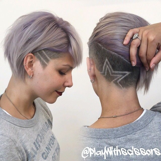 Pastel lilac and undercut on my boo @iamjessiecovets