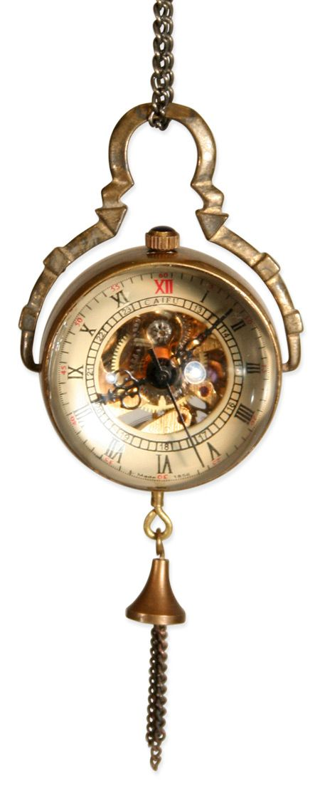Really diggin this wind-up watch. I may even find it more fascinating that the Time-Turner b/c this piece is functional!   Mechanical Globe Watch - Antique Gold