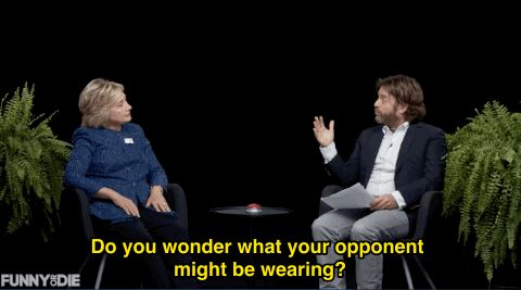 New trendy GIF/ Giphy. hillary clinton zach galifianakis between two ferns power tie. Let like/ repin/ follow @cutephonecases
