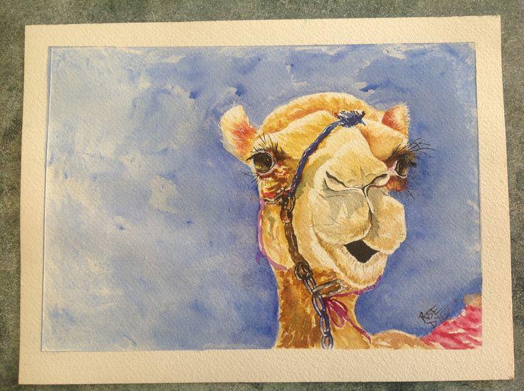 Lady Camel Watercolour