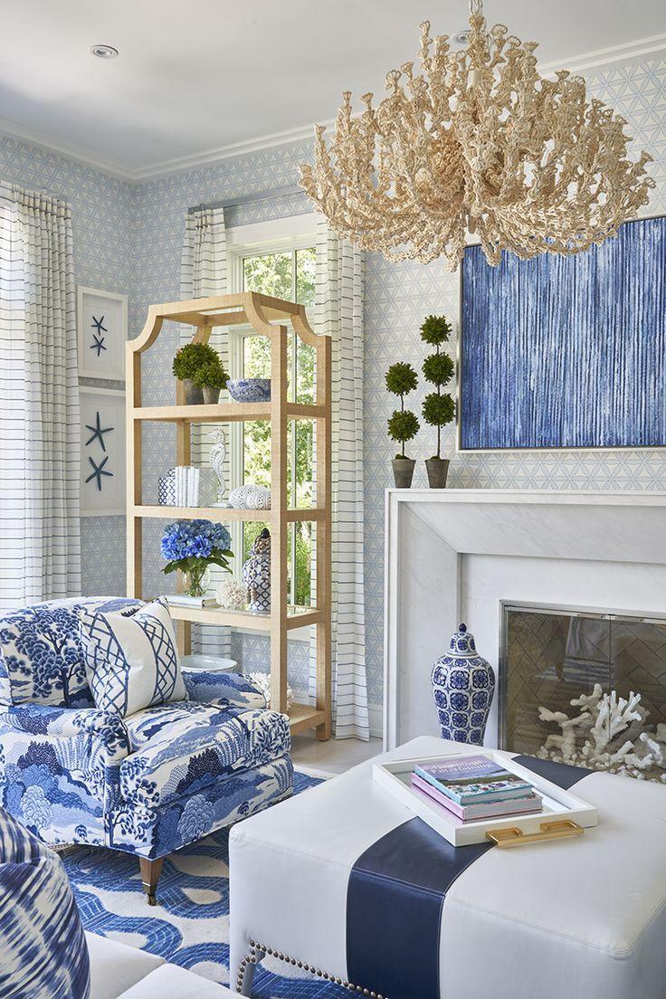 Virve Blue And White Living Room Blue White Decor White Decor