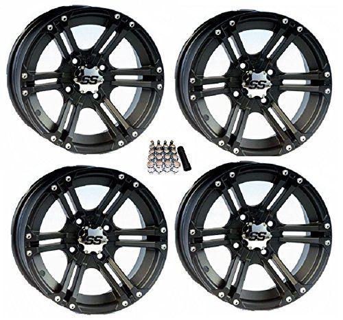 "ITP SS212 ATV Wheels/Rims Black 12"" Kawasaki Teryx Mule (4). For product info go to:  https://www.caraccessoriesonlinemarket.com/itp-ss212-atv-wheels-rims-black-12-kawasaki-teryx-mule-4/"