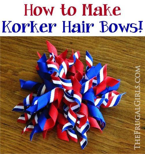How to Make Korker Hair Bows! ~ from TheFrugalGirls.com ~ you'll love this easy DIY tutorial, and the corkscrew ribbon bows turn out SO cute!! #hairclips #hairbows #thefrugalgirls