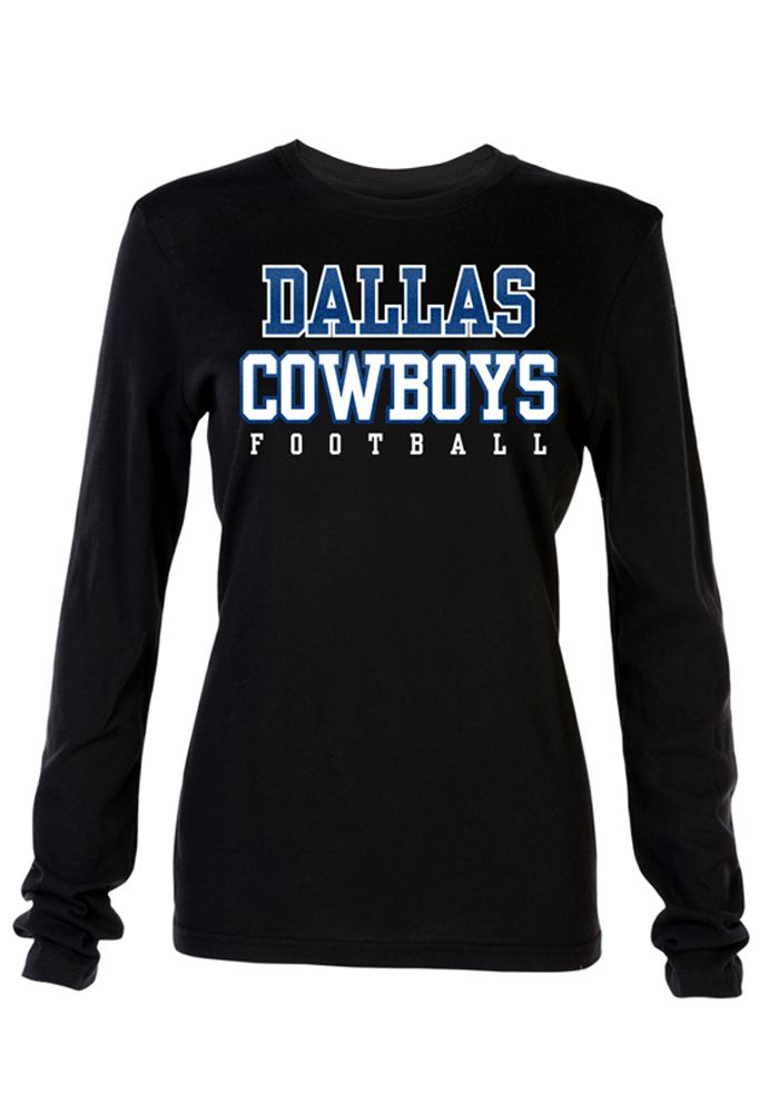 Dallas Cowboys T-Shirt - Black Cowboys Electric Surge Long Sleeve Tee