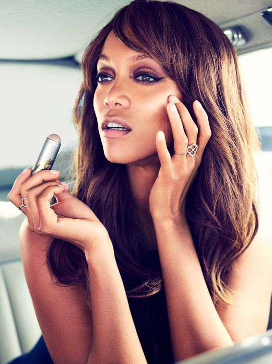 Supermodel Tyra Banks Launches Makeup Line.