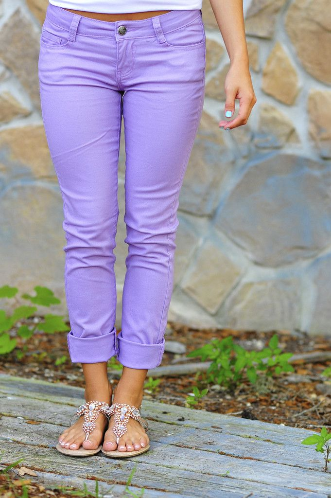 Lavender pants? I love the color, but what would I wear it with?