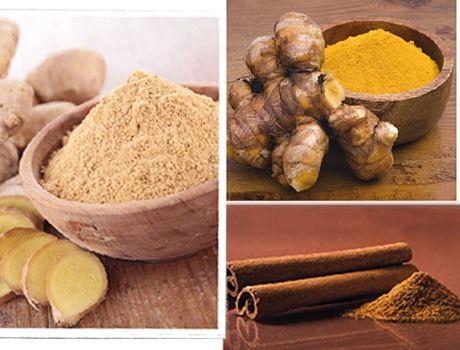 Dämpa dina inflammationer, förbättra matsmältningen och lindra förkylningar. Allt detta med våra vanliga kryddor. Läs mer om de fantastiska egenskaperna hos ingefära, gurkmeja och kanel.