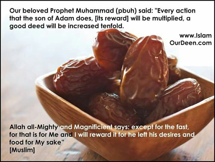 Reward for fasting