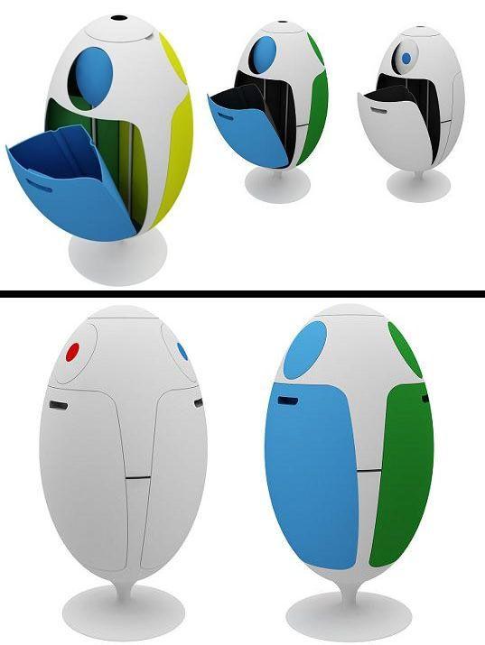 Futuristic dustbin hometowndumpsterrental 2104 - How to decorate a dustbin ...