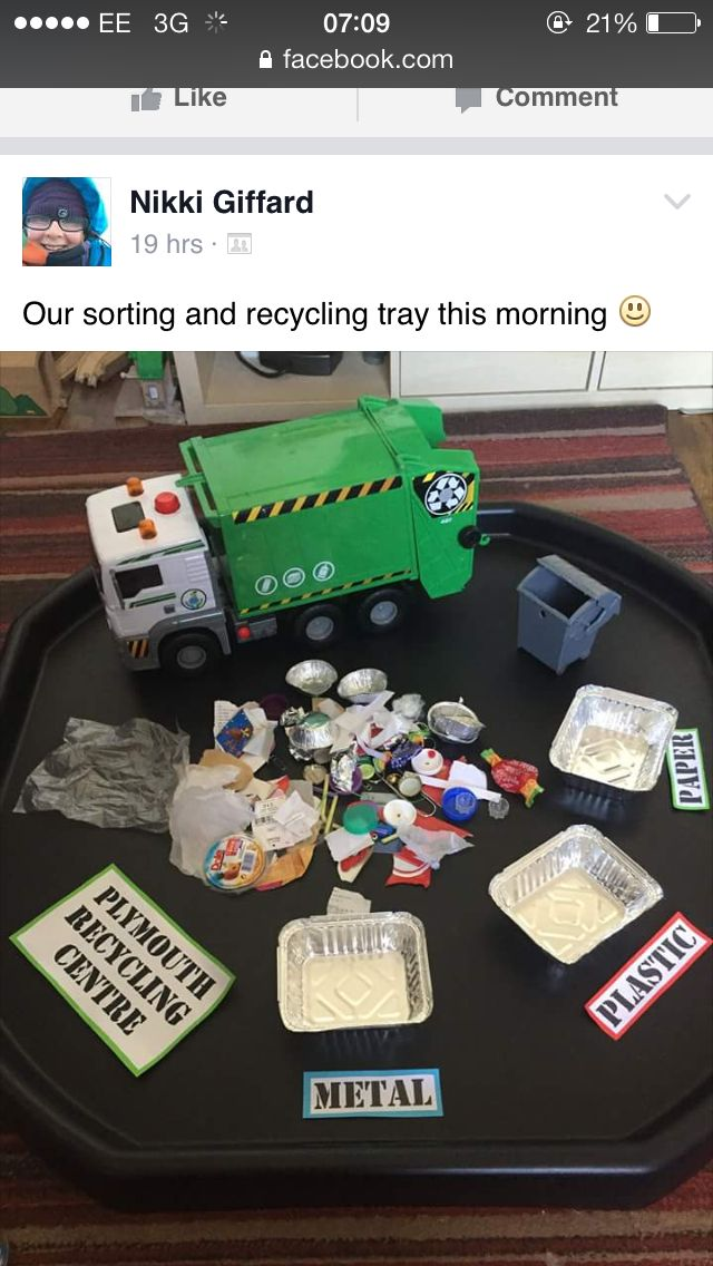 Recycling/rubbish tuff tray