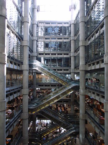Lloyd's    The Lloyd's Building (1978-86) by Richard Rogers and Partners, City of London