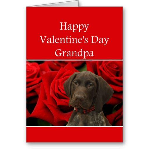 Grandpa Glossy Grizzly Valentine Puppy Love Card   to Sutton, United Kingdom