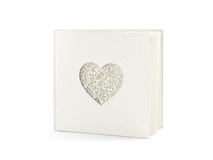 Gästbok Elegant heart