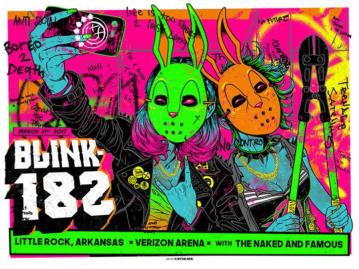 blink 182 Little Rock Poster by Munk One