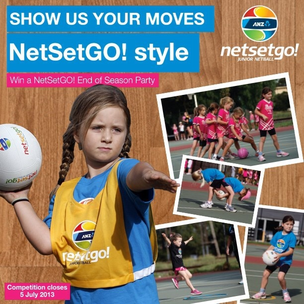 It's competition time! WIN an End of Season Party for your ANZ NetSetGO! Centre. Go to our Facebook page and click on the competition tab to enter! www.facebook.com/NSGnetball Good luck!