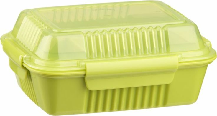 Large Green To Go Container in Food Storage   Crate and Barrel - That is just adorable!