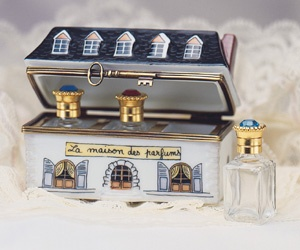 Limoges House with Perfume Bottles Box