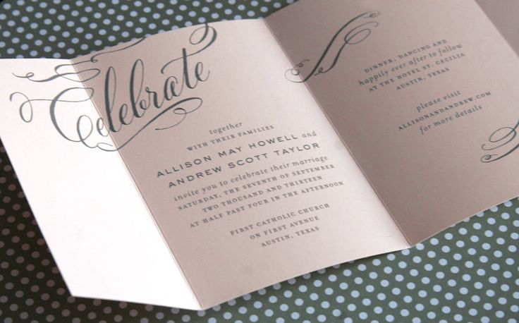 Celebrate Seal And Send Trifold Wedding By Cheerupcherup