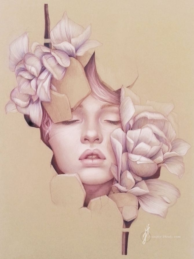Beautiful Pencil Portraits by Jennifer Healy #Art #illustration