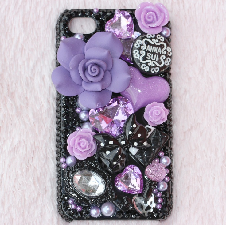 buy stuff on ebay and just stick it onto a phone case you already own, real easy, real cheap! HOT!
